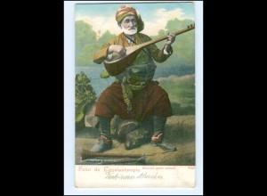 U5473/ Constantinople Türkei Musiker Oriental AK ca.1905
