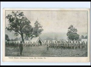 Y11930/ Guard Mount - Manoeuvre Camp, Mt. Gretna, Pa. USA AK ca.1910