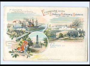 U5552/ Erhebung Schleswig Holsteins schöne Litho AK ca.1900