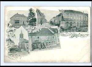U5520/ Gruß aus Drulingen Elsaß Apotheke, Amtsgericht AK ca.1900