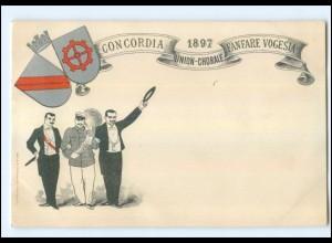 U6004/ Studenten Studentika AK 1897 Fanfare Vogesia