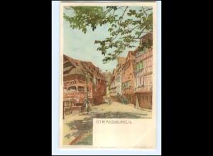 Y11671/ Straßburg Pflanzbad Litho AK A. Erdmann ca.1900