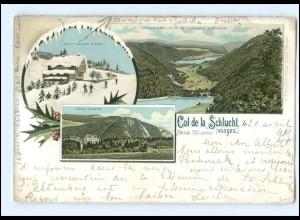 U5639/ Col de la Schlucht Vogesen Elsaß Litho Ak 1897