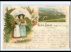 U5619/ Col de la Schlucht Vogesen Elsaß Litho AK 1897