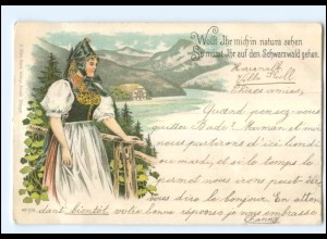 Y11662/ Schwarzald Trachten Litho AK 1897