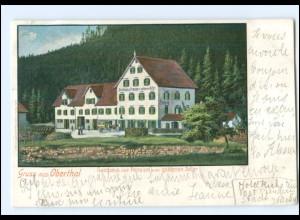 Y11660/ Gruß aus Oberthal b. Baiersbronn Gasthaus zum goldenen Adler AK 1900