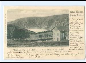 Y11659/ Weisser See mit Hotel Ober-Elsaß AK 1900