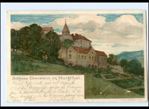 Y11657/ Schloß Eberstein im Murgthal bei Gernsbach Litho AK 1900
