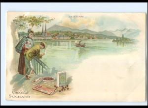 Y11641/ Luzern Chocolat Suchard Litho AK ca.1900
