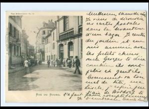 U5649/ Mülhausen Vue Mulhousinnes No. 16 Rue de Bourg AK 1900