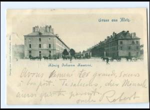 U5650/ Gruß aus Metz König Johann Kaserne AK Lothringen 1900