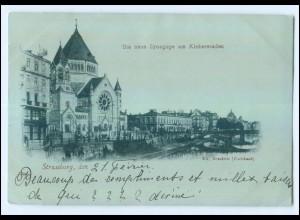 U5651/ Straßburg Synagoge Judaika AK 1900