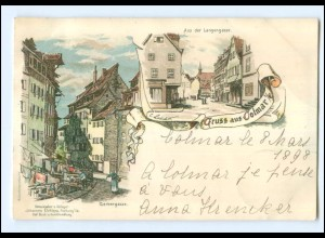 Y11633/ Gruß aus Colmar Elsaß Verlag: Elchlepp Litho AK 1898