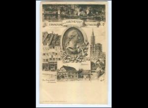 Y11631/ Straßburg Erinnerung an das Goethe-Fest AK ca.1900