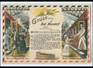 Y11647/ Bad Nenndorf Das Gichtlied Litho AK Eisenbahn 1910