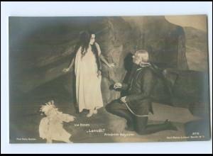 Y11847/ Lia Rosen + Fr. Kayssler Schauspieler Foto AK ca.1912