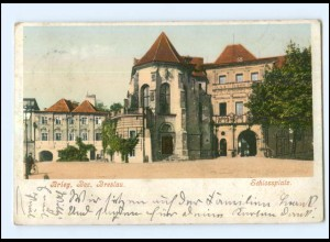 U6141/ Schlesien Brieg Bez. Breslau Schloßplatz 1908 AK