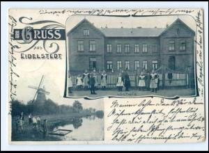 U6153/ Hamburg Gruß aus Eidelstedt Schule 1902 AK
