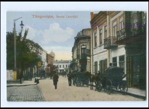 U5707/ Targoviste Strada Libertätii Rumänien AK ca.1914