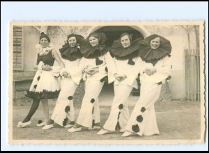 U6032/ Fasching Tanz-Pantomime Pierrot Foto AK 1936