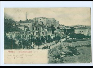U6026/ Abazzia Strandpromenade Kroatien AK 1904
