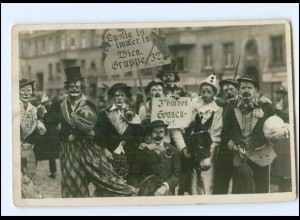 U6035/ Fasching Karneval Clowns Foto AK Wien ca.1930