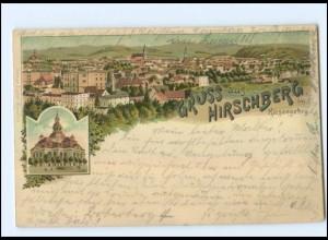 U6140/ Schlesien Gruß aus Hirschberg im Riesengebirge 1901 Litho AK