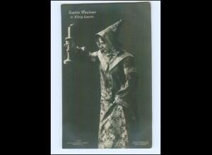 Y12056/ Schauspielerin Theater Sophie Wachner in König Laurin Foto AK ca.1905
