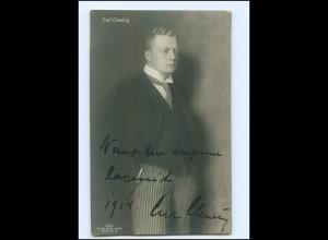 U6446/ Carl Clewing Oper Opernsänger Original Autogramm AK 1914