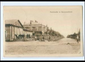 U6564/ Baranowitschi Poststraße Weißrussland AK 1917
