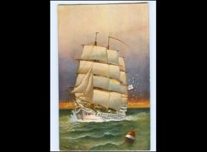 U6550/ Segelschiff Schulschiff Charlotte A. Jensen AK 1910