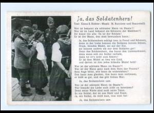 Y12135/ Lieder AK Ja, das Soldatenherz! 2. Weltkrieg
