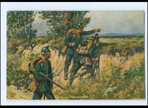 U64897 Jägerpatrouille R. Knötel AK Kriegerbund Stiftung AK 1914
