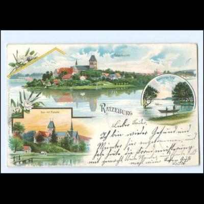 U6281/ Ratzeburg Dom mit Probstei 1898 Litho AK