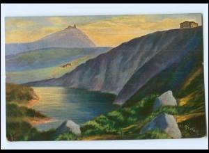U6522/ Riesengebirge Der große Teich AK Schlesien 1913