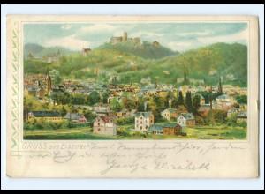 U6209-998./ Gruß aus Eisenach 1905 Litho AK