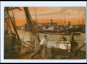 U6431/ Hamburg Hafen AK ca.1912 Schiffe