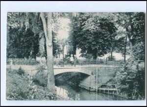 U6219-015./ Riesa Steinbrücke im Stadtpark 1924 AK