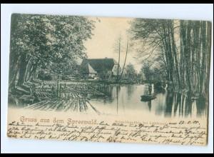 U6225-032./ Gruß aus dem Spreewald 1905 AK