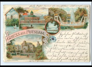U6229-144./ Gruß aus Potsdam 1898 Litho AK