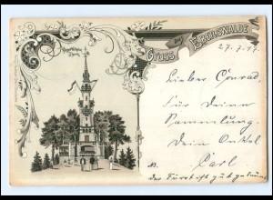 U6230-162./ Gruß aus Eberswalde 1897 Litho AK