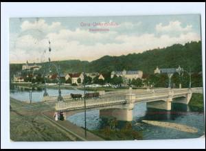 U6216-075./ Gera-Untermhaus Elisabethbrücke 1910 AK