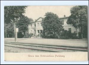 U6461-193/ Gruß vom Schützenhaus Perleberg AK 1909