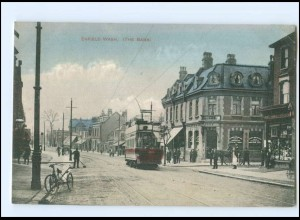 U6575/ London Enfield Wash (The Bank) Tram Straßenbahn AK ca.1910