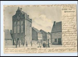 U6240-193./ Gruß aus Wittenberge Am Steintor ca.1900 AK