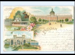 U6241-144./ Gruß aus Potsdam 1905 Litho AK