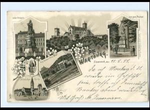 U6218-998./ Eisenach Die Wartburg 1899 Litho AK