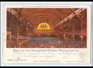 U9190/ Kassel Privatganzsache Gesangwettstreit Sängerfest AK 1899 PP9 C100