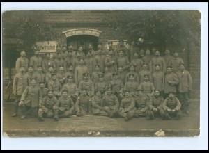 Y14483/ Gasthof zum Westerstrand Soldaten Gruppenfoto AK ca.1914 Foto