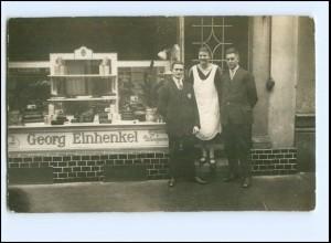 Y12406/ Geschäft Fleischerei Georg Einhenkel Foto AK Ort? 1925